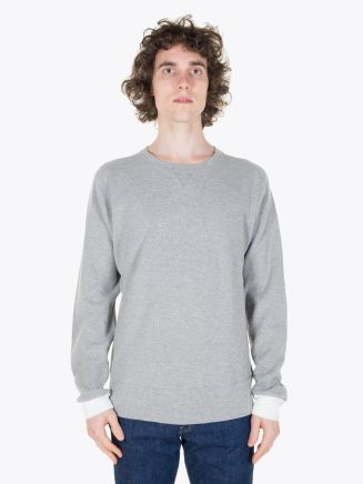 Universal Works Raglan Sweatshirt Waffle Grey Full View