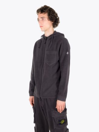 Stone Island 62940 Hooded Full-Zip Sweatshirt Dark Grey