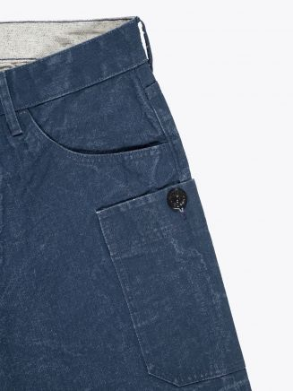 Stone Island J04J1 Panama Placcato RE-T Pants Marine Blue