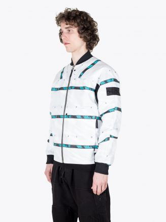 Stone Island Shadow Project 40812 DPM Chinè Jaquard Bomber Jacket White
