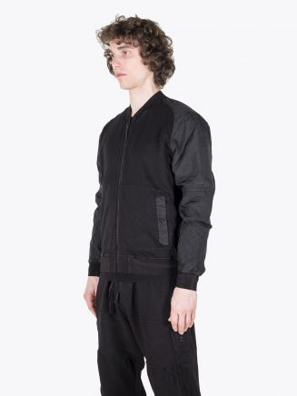Stone Island Shadow Project 60107 Compact Bomber Jacket Black