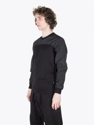 Stone Island Shadow Project 60507 Compact Crew-Neck Sweatshirt Black