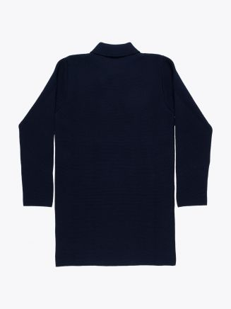 Andersen-Andersen Wool Peacoat Long Navy Blue