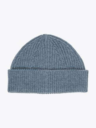 Andersen-Andersen Wool Short Beanie Light Indigo