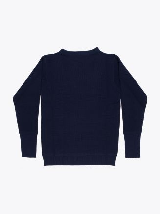 Andersen-Andersen Wool Sailor Crew-Neck Sweater Navy Blue