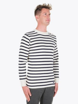 Armor-Lux Fouesnant Striped Sailor Sweater Nature/Rich Navy