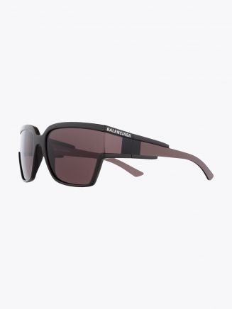 Balenciaga Hybrid D-Frame Sunglasses Brown