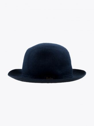 Borsalino Hat Medium-Brimmed Traveller Rabbit-Felt Navy Blue