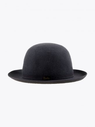 Borsalino Hat Medium-Brimmed Traveller Rabbit-Felt Grey