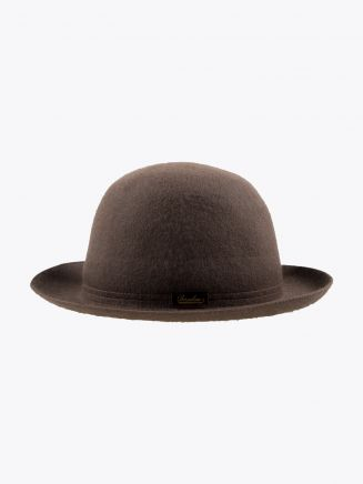Borsalino Hat Medium-Brimmed Traveller Rabbit-Felt Brown