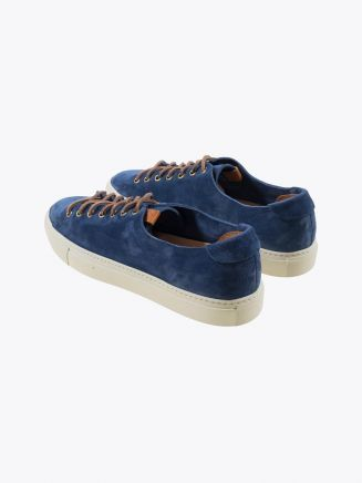 Buttero Suede Tanino Low Sneakers Bluette