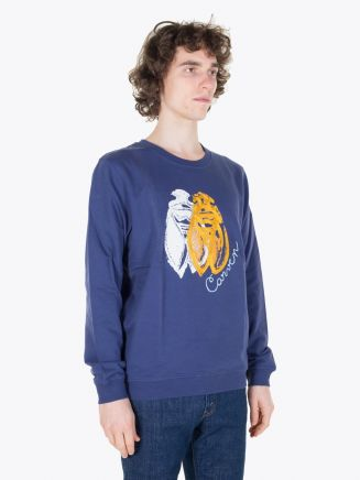 Carven Cricket Molleton Sweat Marine