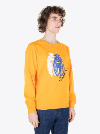 Carven Cricket Molleton Sweat Orange Vif