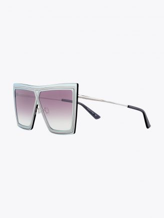 Christian Roth Ventriloquist Sunglasses Chrome Mirror - Silver