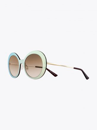 Christian Roth Archive 1993 - ­Lens On Lens­ Sunglasses Gold Mirror - Gold