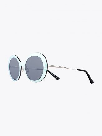 Christian Roth Archive 1993 - Lens On Lens­ ­Sunglasses Chrome Mirror - Silver