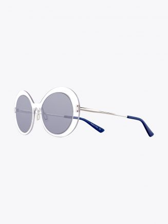 Christian Roth Archive 1993 - Lens On Lens­ ­Sunglasses Crystal Clear - Silver