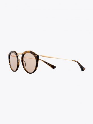 Christian Roth Oskari Sunglasses Brown Smoke - White Gold