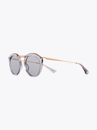 Christian Roth Oskari Sunglasses Light Grey Crystal - Rose Gold