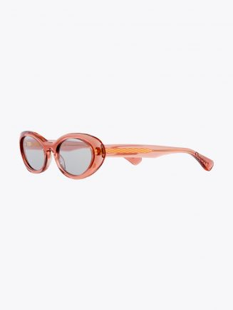 Christian Roth Round-Wav Sunglasses Burgundy Glitter - Rose Crystal