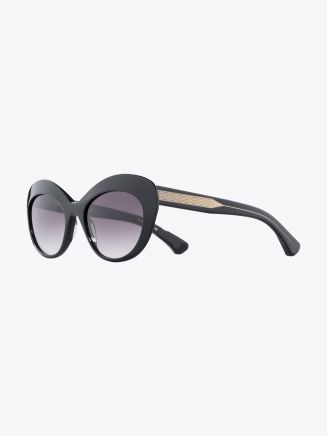 Christian Roth CR-700 Sunglasses Black / Clear Black