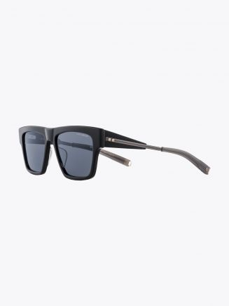Dita-Lancier LSA-701 Rectangle Sunglasses Black / Black Gun