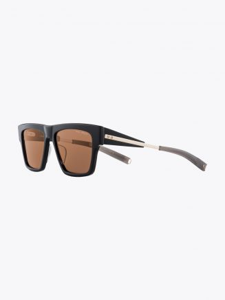 Dita-Lancier LSA-701 Rectangle Sunglasses Black / White Gold
