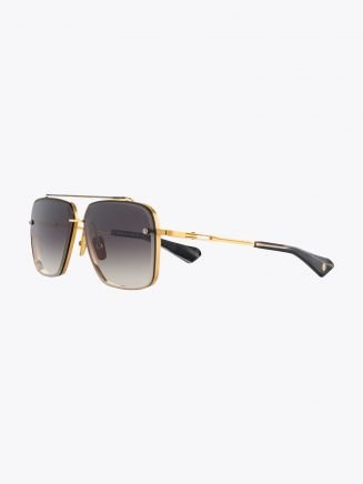 Dita Mach-Six Aviator Sunglasses Yellow Gold