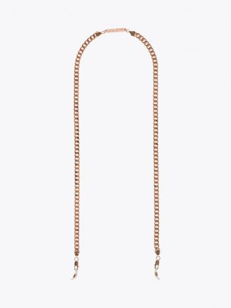 Frame Chain Diamond Geezer Chain Glasses Rose Gold