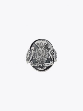 Goti Medieval Crest Ring Sterling Silver