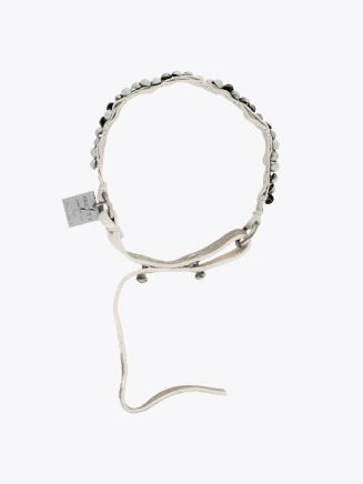 Goti Metal Ball Bracelet Silver/White