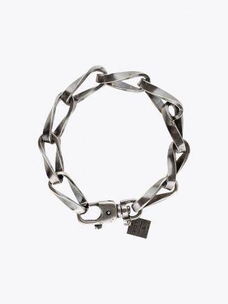 Goti Milled Curb Chains Bracelet Silver