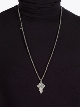 Goti CN1325 Silver Necklace w/the Cross
