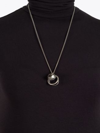 Goti CN569 Silver Necklace w/Rings