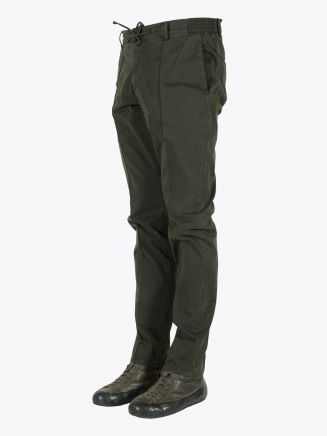 Giab's Archivio Masaccio Slim-Fit Stretch Cotton Drawstring Trousers Military Green