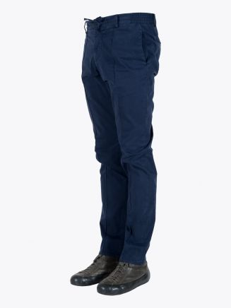 Giab's Archivio Masaccio Slim-Fit Stretch Cotton Drawstring Trousers Navy Blue