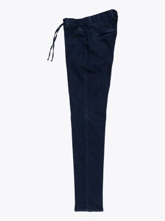 Giab's Archivio Masaccio Cotton Drawstring Pants Denim Blue