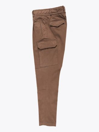 Giab's Archivio Brunelleschi Cotton Cargo Pants Light Brown
