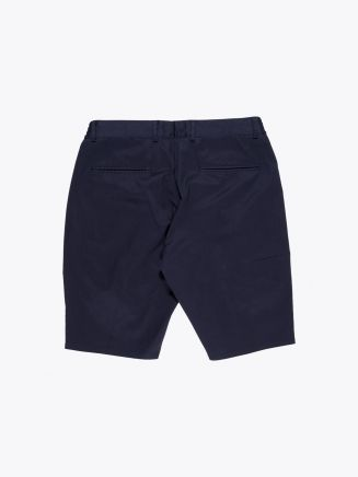 Giab's Archivio Magnifico Stretch Cotton Pleated Short Navy Blue