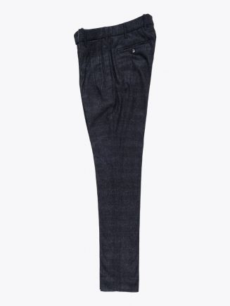 Giab's Archivio Cocktail Wool Pleated Pants Check Anthracite / Grey