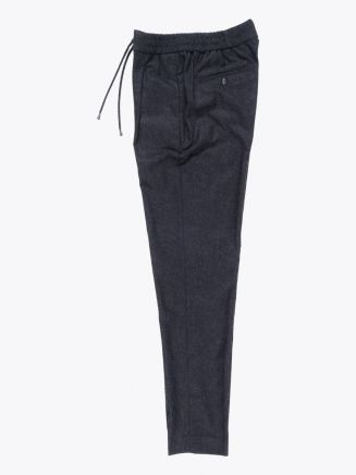 Giab's Archivio Tintoretto Wool Drawstring Pants Anthracite Melange