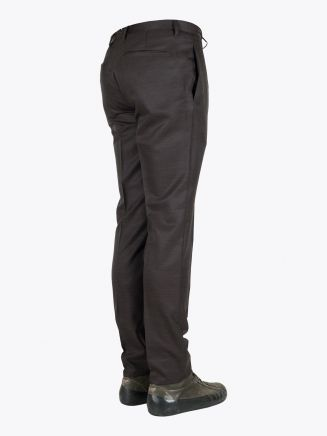 Giab's Archivio David Slim-Fit Stretch Wool/Polyamide Flat-Front Pants Brown