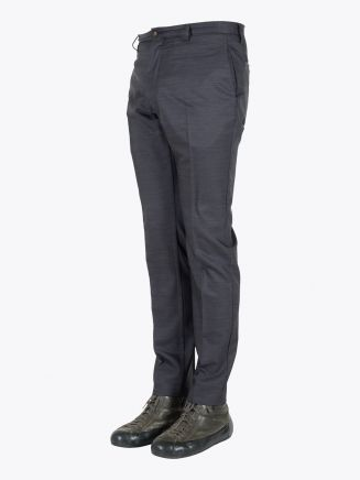 Giab's Archivio David Slim-Fit Stretch Wool/Polyamide Flat-Front Pants Grey