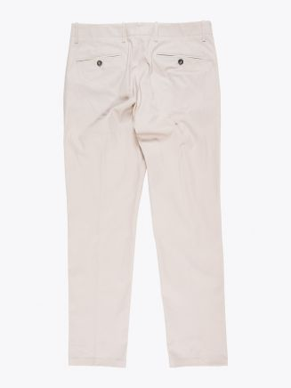 Giab's Archivio Verdi Slim-Fit Stretch Cotton Pleated Pants Beige