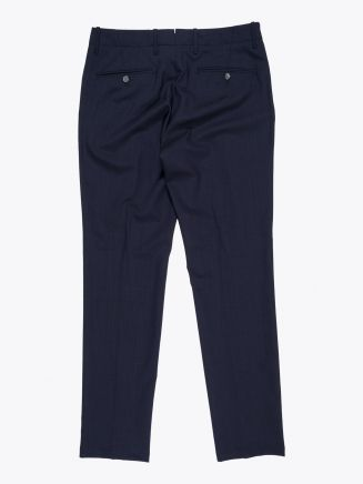 Giab's Archivio Verdi  Slim-Fit Stretch Wool Pleated Pants Navy Blue