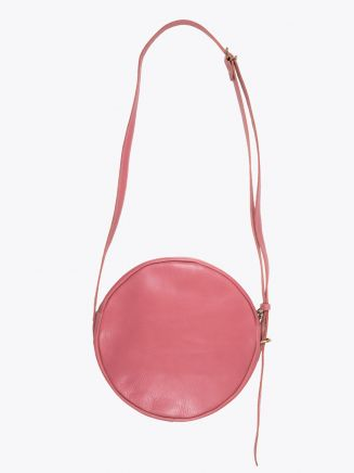 Il Bisonte A2664/M Cowhide Leather Round Bag Geranium