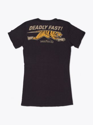 Johnson Motors Deadly Fast Women's T-Shirt Black