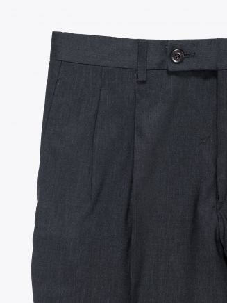 Maurizio Miri Suit Trousers Moran Linen and Wool Black