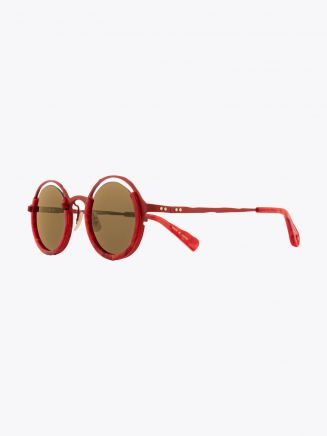 Masahiromaruyama Monocle MM-0053 No.3 Sunglasses Marble Red / Red