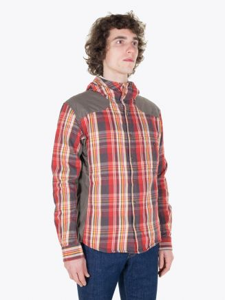 Pedaled Christopher Pedalling Hooded Shirt Red Check